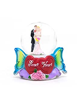 Discount Mania Dancing Couple Figurine Gift Glass Globe Showpiece 3 inch Design May Vary
