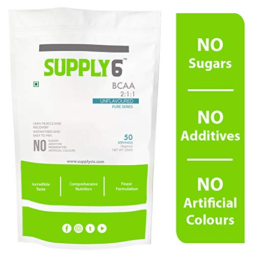 Supply6 Pure BCAA (Unflavoured, 250g)