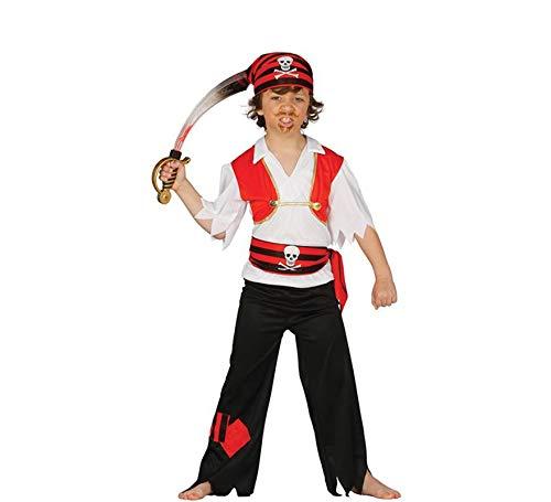 Guirca - Disfraz de pirata, talla 5-6 años, color negro (83347)