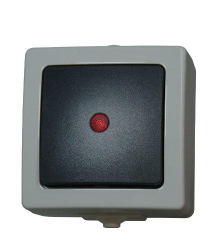 Preisvergleich Produktbild Kopp 566656002 Kontrollschalter (Aus- und Wechselschalter) beleuchtet Aufputz Feuchtraum Nautic