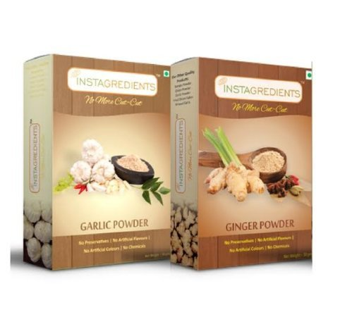 InstaGredients Ginger Powder, 50g with InstaGredients Garlic Powder, 50g  available at amazon for Rs.130