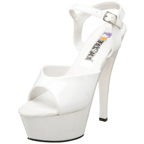Pleaser Juliet 209, Sandales Plateforme Femme laque blanc