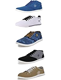 Globalite Men's Casual Shoes / Stylish Canvas Sneakers ( Combo offer - 5 Pair Shoes)