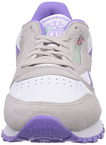 Reebok Classic Leather Suede Seasonal Ii, Low-top Sneaker Donna Multicolore (acero / Blanco / Lush Orchid / Mint Glow)