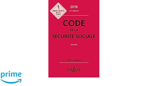 Amazon Fr Code De La Securite Sociale 2018 Annote 42e Ed