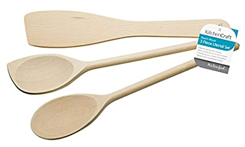 KitchenCraft Wooden Cooking Utensils (Set of