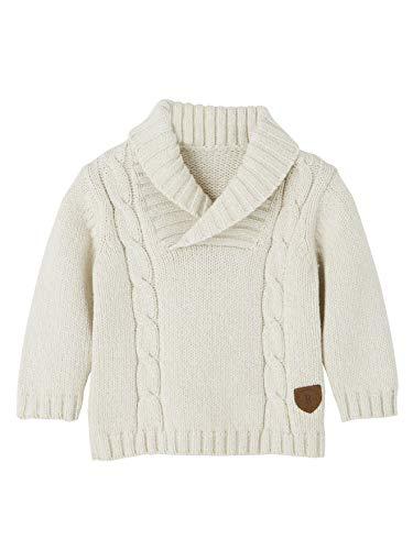 Vertbaudet Pullover für Baby Jungen, Schalkragen hellgrau 86