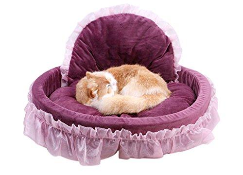 Casa del cane cotone morbido caldo principesse animale domestico gatto pieghevole vello staccabile cuscino sacco a pelo nido gabbia tappetino mat letto accogliente per cani cucciolo coniglio - landove