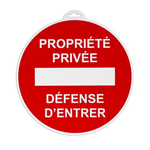 Vinmer 381007 Panneau de signalisation Propriété privée défense d'entrer ø 290 mm