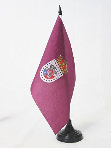 AZ FLAG Bandera de Mesa de la Provincia DE Soria 21x14cm - BANDERINA de DESPACHO Soria ENCastilla Y LEÓN 14 x 21 cm
