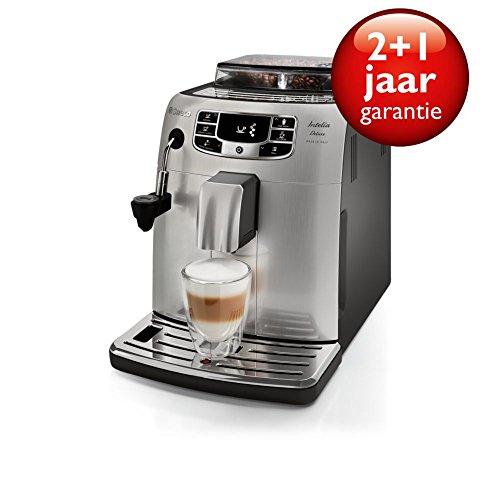 Philips Saeco Intelia Deluxe Espresso machine Acero inoxidable - Cafetera (Independiente, Espresso machine, Acero inoxidable, Taza, Granos de café, De café molido, Italia)