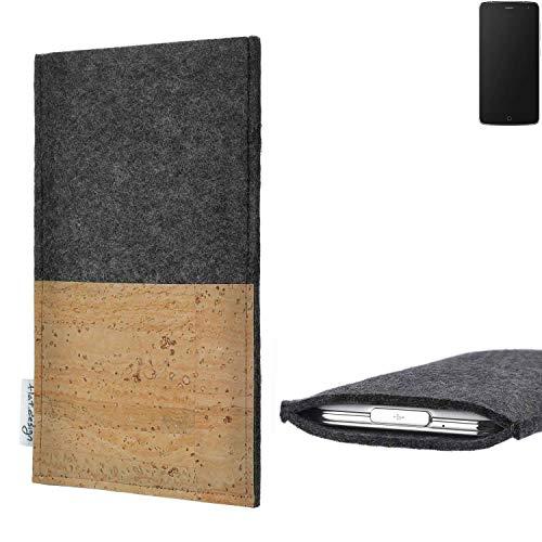 flat.design vegane Handy Hülle Evora für Alcatel Flash Kartenfach Kork Schutz Tasche handgemacht fair vegan