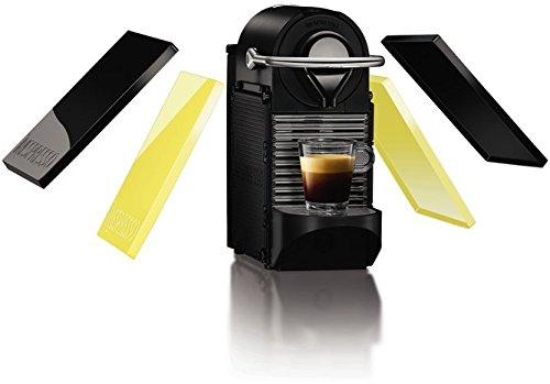 Nespresso PIXIE Clips XN 3020-Caffettiera a capsule Krups, 19bar, spegnimento automatico, ergonomico, Intelligente, Customizable, colore: Black & Lemon