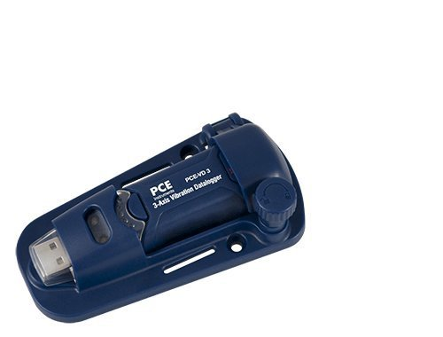 PCE Instruments PCE-VD 3 Vibrationsdatenlogger / Vibrationsmesser / Vibrationsmessgerät / Vibration / Datenlogger misst Beschleunigung in 3 Richtungen / Messbereich ±18 g / Frequenzbereich von 0 ... 60 Hz / inklusive magnetischer Wandhalter