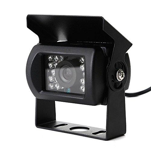 Zogin E629 420TVL CMOS Caméra de Recul Voiture en Couleur Kit Caméra vue arrière de voiture Imperméable IP67 avec large Vision Nocturne (18 LED), Haute-résolution et Haute-définition HD pour voiture automobile camping car camion
