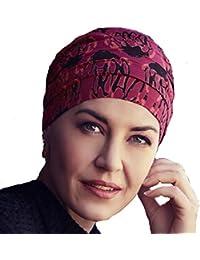 Christine Headwear Turban chimiothérapie Yoga en Bambou imprimé Floral  Rouge ... 98ba472b153