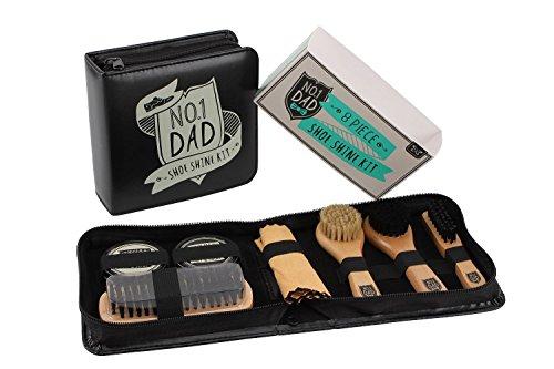 8 Piece Shoe Shine Kit - No. 1 Dad