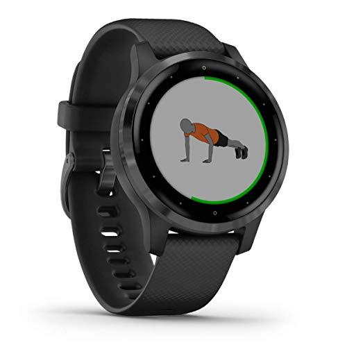 Garmin vívoactive 4S - schlanke, wasserdichte GPS-Fitness-Smartwatch mit Trainingsplänen & animierten Übungen. Für schmale Handgelenke, 20 Sport-Apps, 7 Tage Akkulaufzeit, kontaktlos Bezahlen, Musik