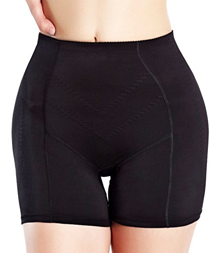 hip-up-padded-butt-enhancer-panty-women-underwear-invisable-workout-shaper-m-black