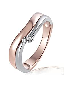 Goldmaid Damen-Ring Red Passion 925 Sterlingsilber 2 Zirkonia