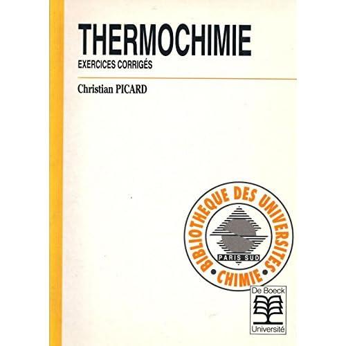 Thermochimie. Exercices corrigés