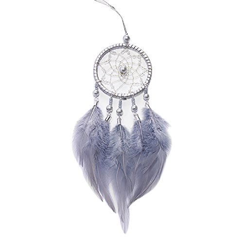Moresave Mini Traumfänger Auto Anhänger Home Decor Wandbehang Dream Catcher mit Feder und Perlen (Catcher Dream Home Decor)