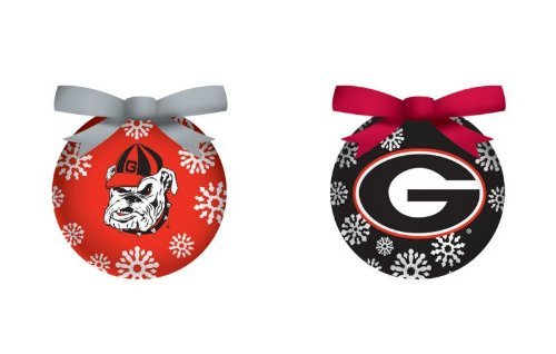 University of Georgia UGA Bulldogs LED Boxed Ornament Set of Six by Evergreen