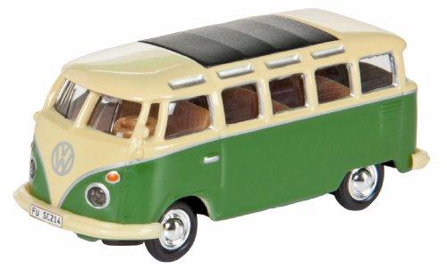 Dickie-Schuco 452599900 - VW Bus T1 Samba, beige-grün, 1:87