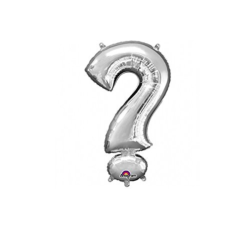 Preisvergleich Produktbild Anagram Folienballon Fragezeichen,  Farbe Silber (33072)