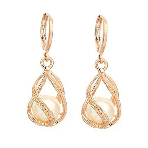 Moeavan Damen Halskette, Ohrstecker Sterling Silber Schmuck Ohrringe Elegante Dangle Ohrringe Hochzeit Geschenk