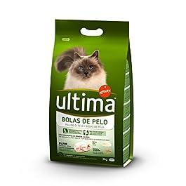 Ultima Cibo per Gatti con Controllo delle Palline di Pelo con Tacchino – 3 kg