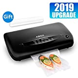 ABOX Automatic Vacuum Sealer, 5 in 1 Food Saver with Built-in Cutter/Storage Bag