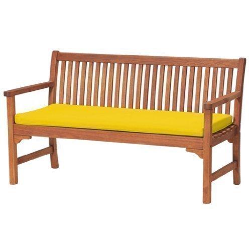 Gardenista Sitzkissen für Gartenbank, für 3-Sitzer, bequem und leicht, groß, Gelb für Innen-und Außenbereich; wasserabweisend