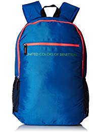 United Colors of Benetton 21 Ltrs Blue Casual Backpack (16A6BAGT7004I)