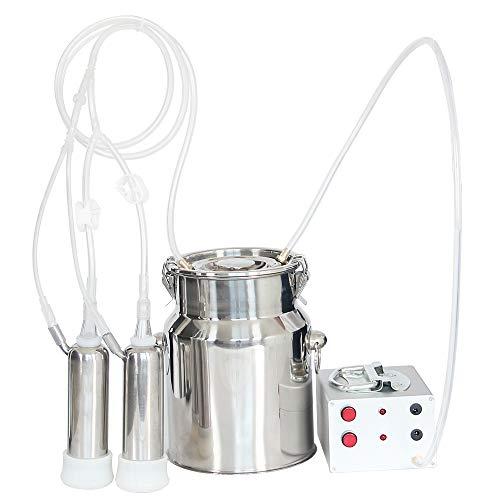 Trudsafe Elektrische Kuh-Melkmaschine-Melker des Vieh-5L 1.1Gal - Pulsator ist Enthalten Edelstahl-Eimer-Einfach, Nahrungsmittelgrad zu Verwenden