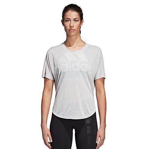 Adidas magic logo tee camicia sportiva, donna, grigio (grey two f17 grey two f17), 40 (taglia produttore:s)