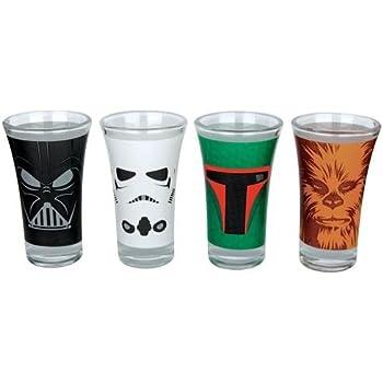Star Wars Characters Schnaps-Glas-Set Standard: Amazon.de: Küche ...