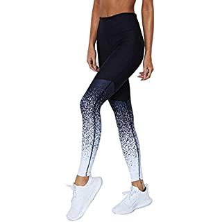 WUDUBE Damen 3D Hohe Taille Sport Leggings, Damen Sport Leggings, Nähen Yoga Sporthose, Damen Leggings, Classics Stretch Workout Fitness Jogginghose