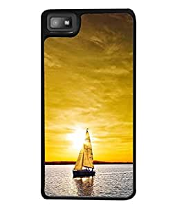 PrintVisa Designer Back Case Cover for Blackberry Z10 (lovely sunset sail boat sea)
