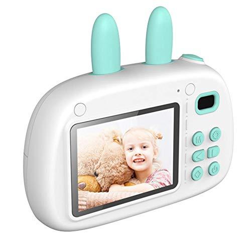 Cámara para niños Fotografía digital Pequeña cámara SLR Divertido dibujo animado con foto pegatina Lente doble para niños Cámara 2.4 pulgadas