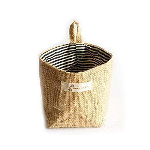 Uzinb Wohnzimmer Lagerung Sack Stoff-Taschen Hanging Grocery Tuch Blumentopf Gehäuse Korb -