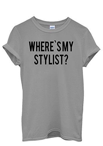 Where is My Stylist Designer Cool Men Women Damen Herren Unisex Top T Shirt Grau