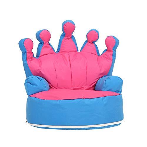 DN-chair Weich gepolstert Kinder Mini Liege Sofa Sitzsack Geburtstagsgeschenke für Jungen Mädchen (Farbe : Rose red+medium Blue, Größe : 70 * 68 * 70CM)