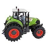 Riverry Ferngesteuertes Modellauto, 1:16 Fernbedienungsauto Ferngesteuertes Spielzeugauto Traktor-Modell Gabelstapler Bulldozer Ackerland Schiebetechnik LKW Farmfahrzeug Spielzeug (Farbe: grün)