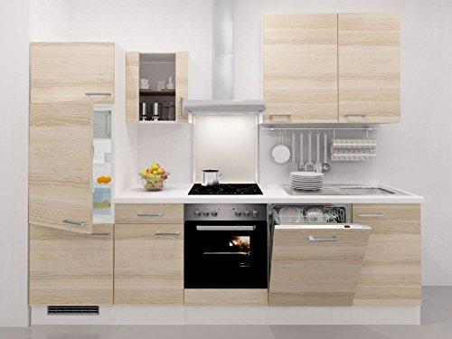 Flex-Well Küchenzeile 280 cm Akazie mit Geräten - Arezzo