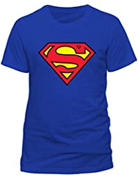DC Men's Superman Logo Crew Neck Short Sleeve T-Shirt