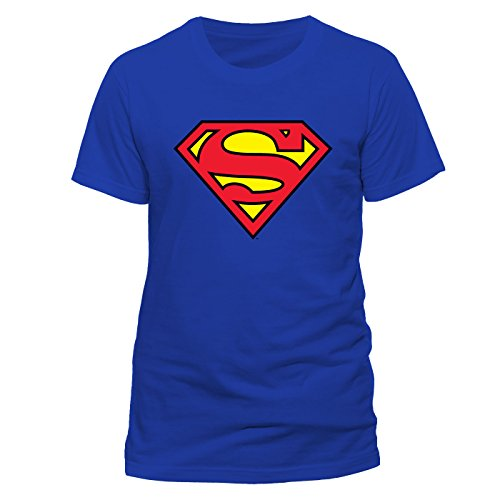 Collectors Mine - Camiseta de Superman con cuello redondo de manga corta para hombre, talla M, color azul