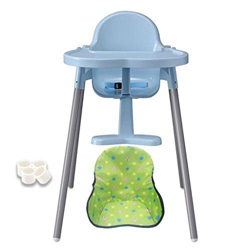 Chaise de Salle à Manger Dinette pour Enfants Siège Pliant pour bébé Chaise pour bébé Chaise Pratique Tabouret pour bébé Une Chaise Qui élève Le bébé (Color : Blue, Size : 56cm*60cm*71cm)