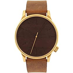 Mode-Uhr Vintage Gürtel Business casual Quarz Herrenuhr , brown