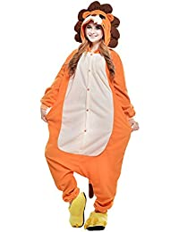 808abbe47c YFCH Pijama Entero Animal de Franela Unisex Hombre-Mujer Pijama de Disfraz  Cosplay Halloween